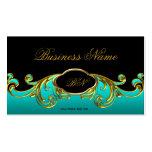 Oro verde azul del trullo negro con clase elegante plantilla de tarjeta personal