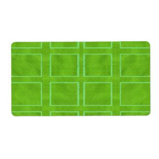 Oro verde - colección del esquema del tema etiqueta de envío