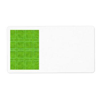 Oro verde - colección del esquema del tema etiquetas de envío