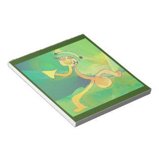 Oro verde de la libreta del arte abstracto del bloc de notas