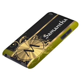 Oro verde personalizado y negro funda iPod