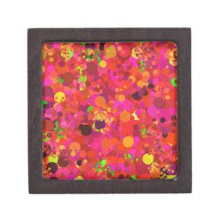 Oro verde rojo y modelo de puntos rosado caja de joyas de calidad