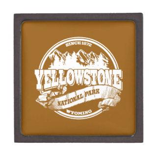 Oro viejo del círculo de Yellowstone Caja De Recuerdo De Calidad