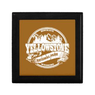 Oro viejo del círculo de Yellowstone Joyero Cuadrado Pequeño