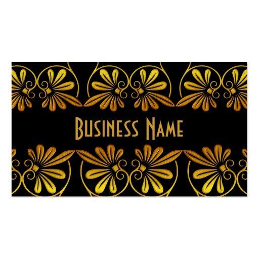 Oro viejo del negocio de la tarjeta del perfil flo tarjetas de visita