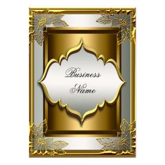 Oro viejo negro con clase elegante de Whte Tarjetas De Visita Grandes