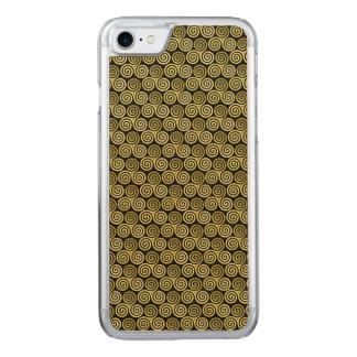 Oro vivo de la risa del amor del espiral triple funda para iPhone 7
