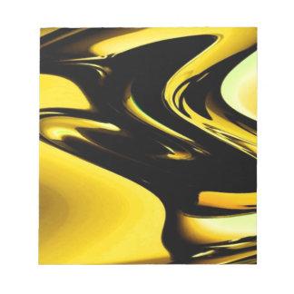 Oro y arte pop negro bloc de papel