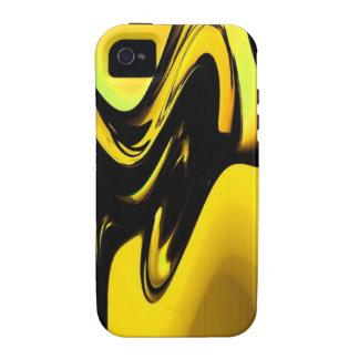 Oro y arte pop negro iPhone 4/4S carcasa