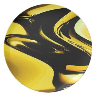 Oro y arte pop negro plato