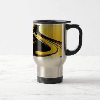 Oro y arte pop negro taza de café