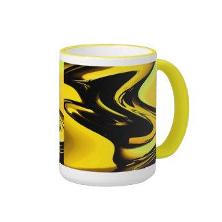 Oro y arte pop negro tazas de café