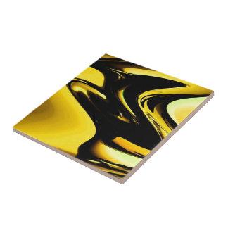 Oro y arte pop negro tejas  ceramicas