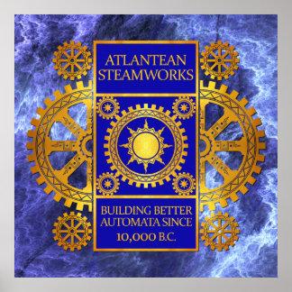 Oro y azul de la Atlántida de Steamworks- en el má Impresiones