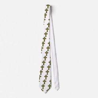 Oro y azul de la cruz céltica corbata
