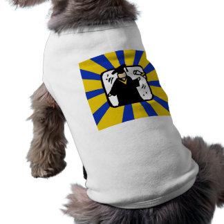 Oro y azul de recepción graduados del diploma 2 camisetas de perro