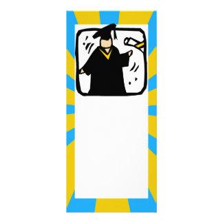 Oro y azul de recepción graduados del diploma (2) diseño de tarjeta publicitaria