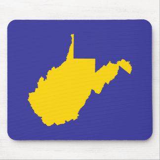 Oro y azul de Virginia Occidental Alfombrilla De Ratón