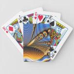 Oro y azul del fractal de la brillantez de la mari baraja cartas de poker