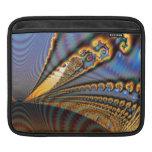 Oro y azul del fractal de la brillantez de la mari mangas de iPad