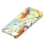 Oro y azul soñadores iPhone 5 carcasas