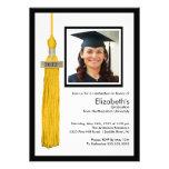 Oro y blanco de la invitación de la graduación de