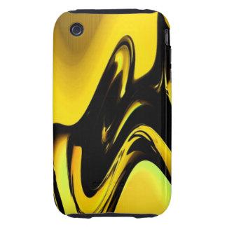 Oro y caja negra del iPhone 3 del arte pop iPhone 3 Tough Coberturas