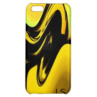 Oro y caja negra del iPhone 5 del arte pop