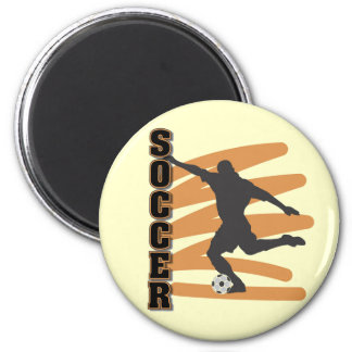 Oro y camisetas masculinas negras del jugador de f imán redondo 5 cm