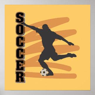 Oro y camisetas masculinas negras del jugador de f póster
