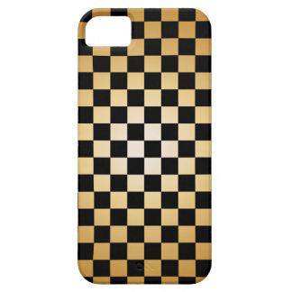 Oro y caso a cuadros del iPhone 5 de la rejilla de iPhone 5 Cárcasas