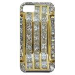 Oro y caso del iPhone 5 del arte del diamante iPhone 5 Case-Mate Funda