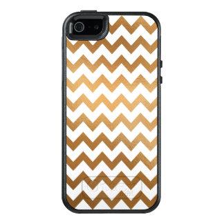 Oro y Chevron blanco, móviles Funda Otterbox Para iPhone 5/5s/SE