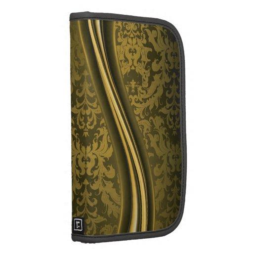 Oro y damascos de Brown - planificador en folio de