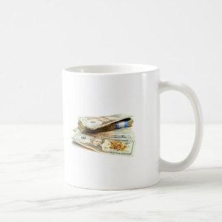 Oro y dinero taza de café