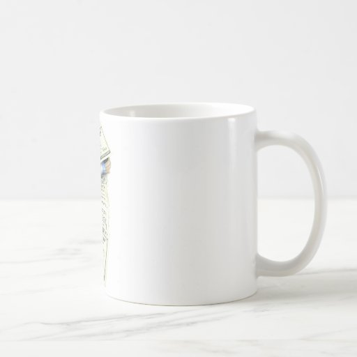 Oro y dinero tazas de café