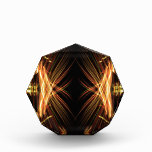 Oro y diseño modelado negro