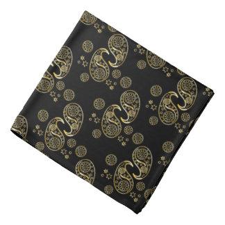 Oro y diseño negro de Paisley Bandanas