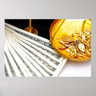 Oro y efectivo poster