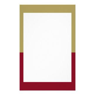 Oro y efectos de escritorio marrón de la frontera papeleria de diseño