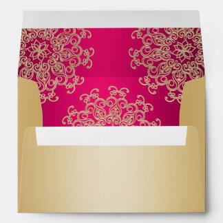 Oro y estilo del indio de las rosas fuertes sobres