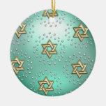 Oro y estrella del cristal del ornamento de David