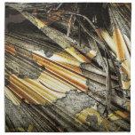 Oro y extracto del negro servilleta
