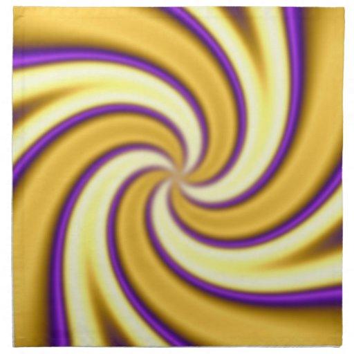 oro y extracto que tuerce en espiral de la púrpura servilletas
