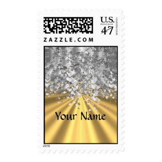 Oro y falso brillo personalizados estampillas