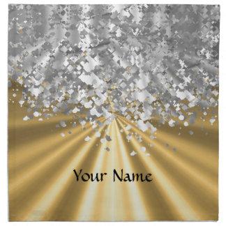 Oro y falso brillo personalizados servilleta