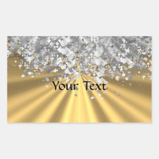 Oro y falso brillo personalizados rectangular altavoz