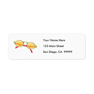 Oro y gafas de sol rojas del borde del alambre etiqueta de remitente