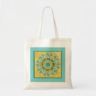 Oro y la bolsa de asas de la mandala de Lotus de l