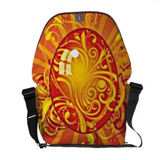 Oro y la bolsa de mensajero roja del carrito del h bolsa de mensajeria